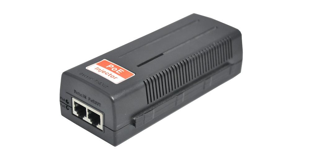 UL Listed 60W POE injector (IEEE802.3att standard)