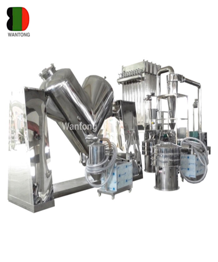 V shaped mixer mixing machine with forced stir