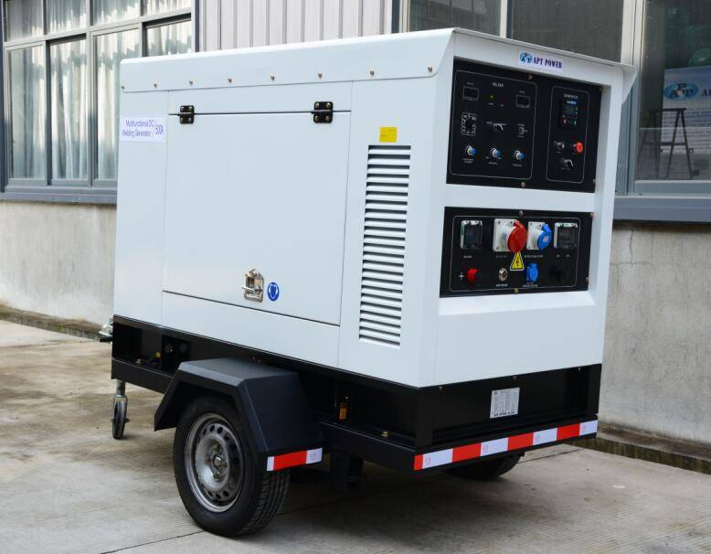 DC Welding Generator Set Powered by Perkins Engine MMA GMAW and TIG Welding Functions