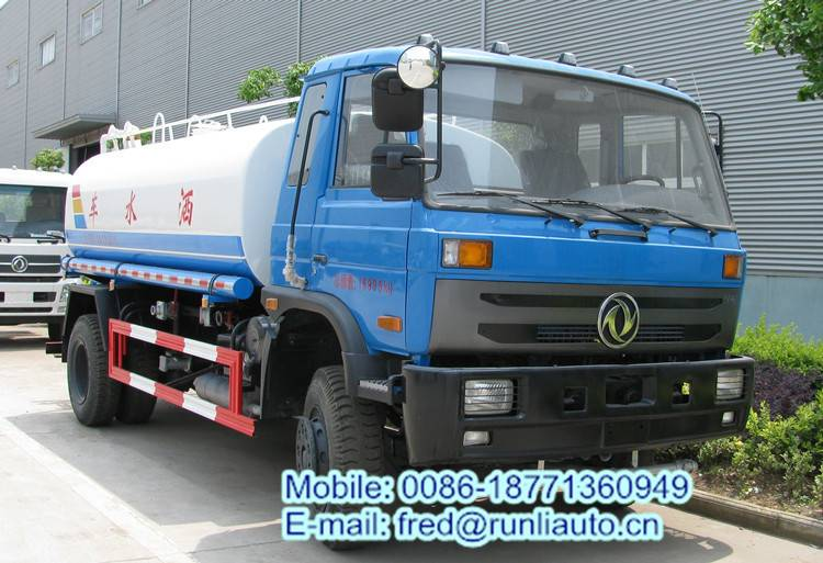 Dongfeng 4x2 10130 liters water tank truck