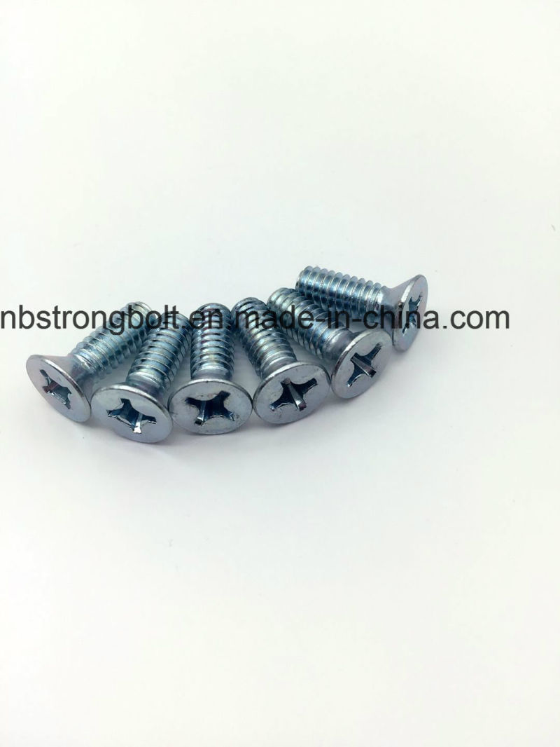 Countersunk Flat Head Screws (common head style) with Type H or Type Z Cross Recess DIN965 with Whit