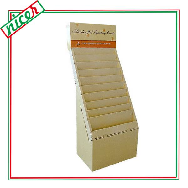 Cardboard material Flooring Stand Card Display Stand
