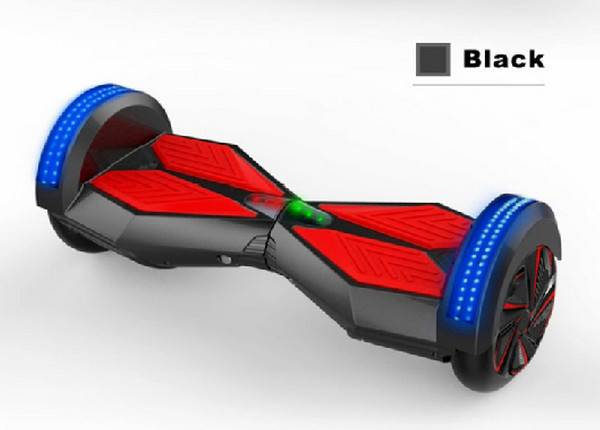 self balancing scooter with bluetooth speakers and LED light
