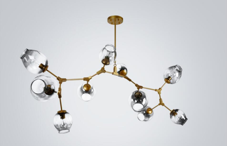 Replica Lindsey Globes Glass Bubble Chandelier Modern