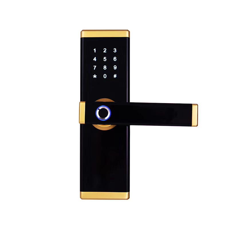 Zinc Alloy Intelligent Semiconductor Fingerprint Handle Door Lock