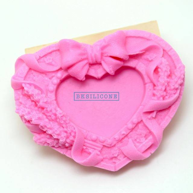 Bowknot Heart  Silicone Molds Cake Cooky Mold Rtv rubberr AB015