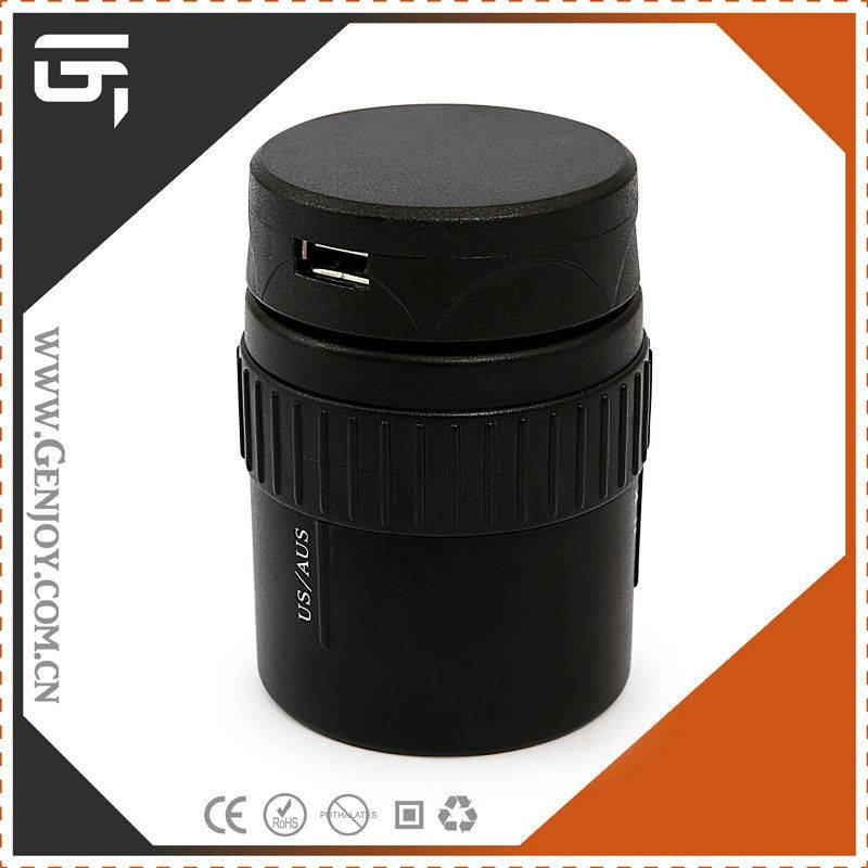 China Supplier Special electrical gift item for Great Britain Rotating World Travel Adapter with CE