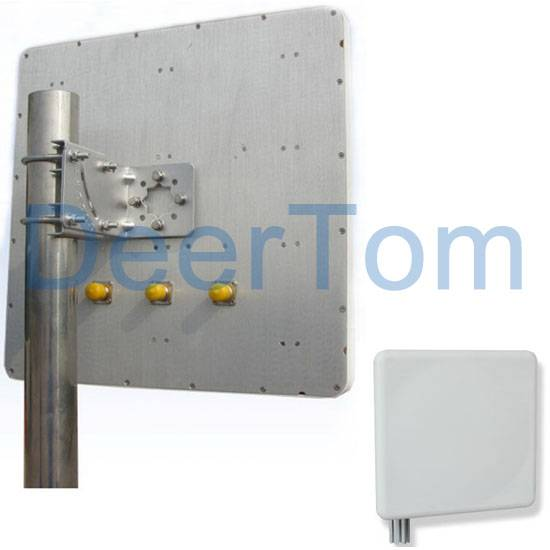 2400-2500MHz 2.4GHz 2.4G WIFI WLAN WIRELESS Indoor Outdoor MIMO Patch Panel Antenna 15dBi 3 Connecto