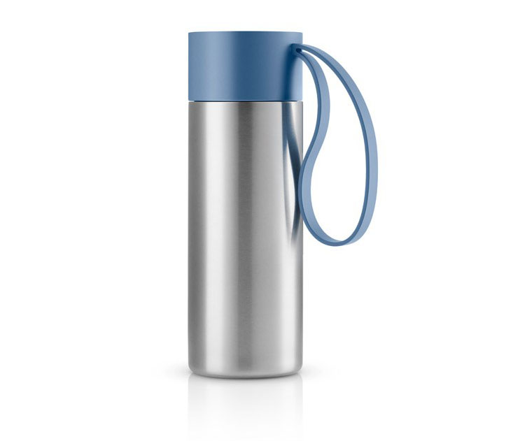 ZC-OF-Y Thermo Water Bottle with Strap, Brushed Stainless Steel