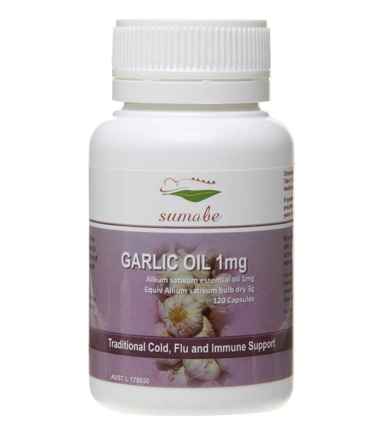 Cold, flu and immune support, Sumabe garlic oil