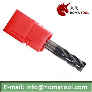 Radius Solid End Mills for High Hardness Steel