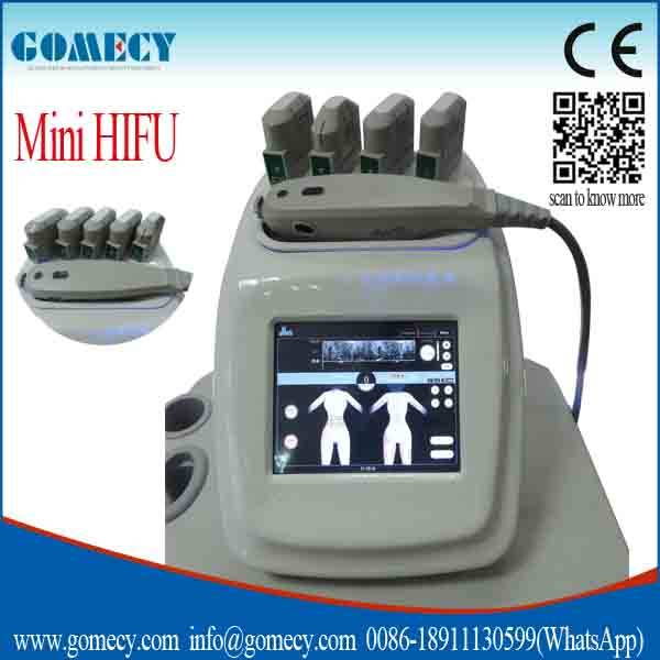 2016 Portable face skin rejuvenation hifu system shape body & face lift/ mini hifu face lift machine