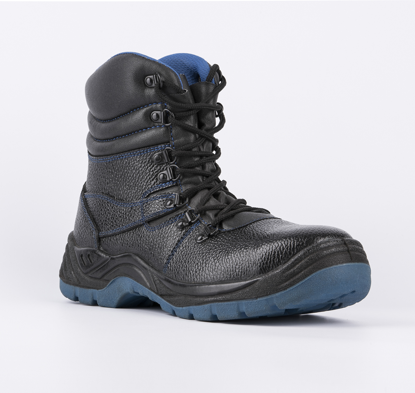 safety work boots embossed split leatehr pu outsole