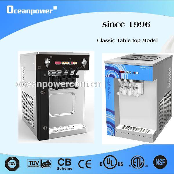 Used by many Ice Cream Store! 2 Colors!OP132BA Table Top Frozen Yogurt Soft Ice Cream Machine.