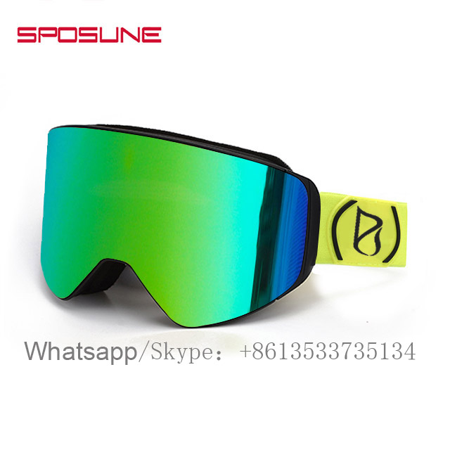 New 2019 Trending Product Custom Logo High Quality Snowboard Goggles With Magnet Lens