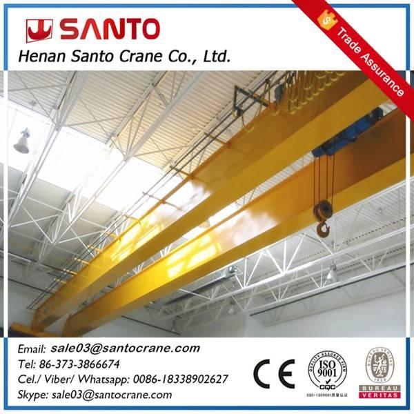 Good welding qd model double beam girder electric hoist overhead mobile crane