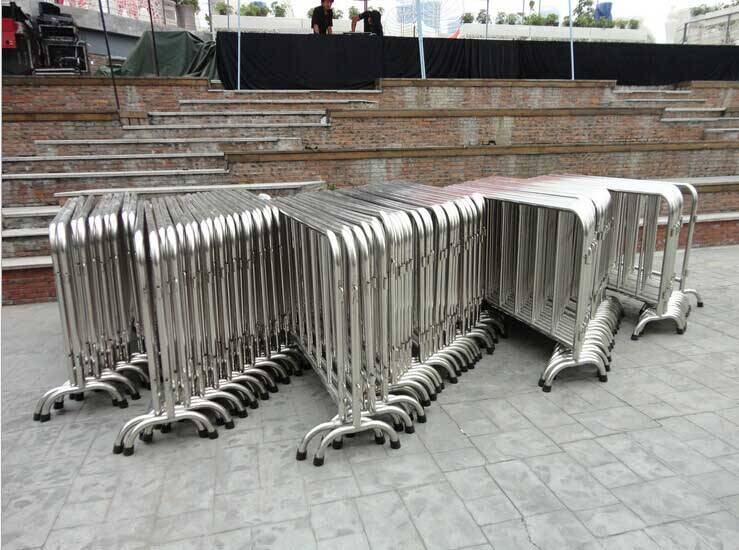 Poprealm wholesale Portable Galvanized Steel Crowd Control Barriers