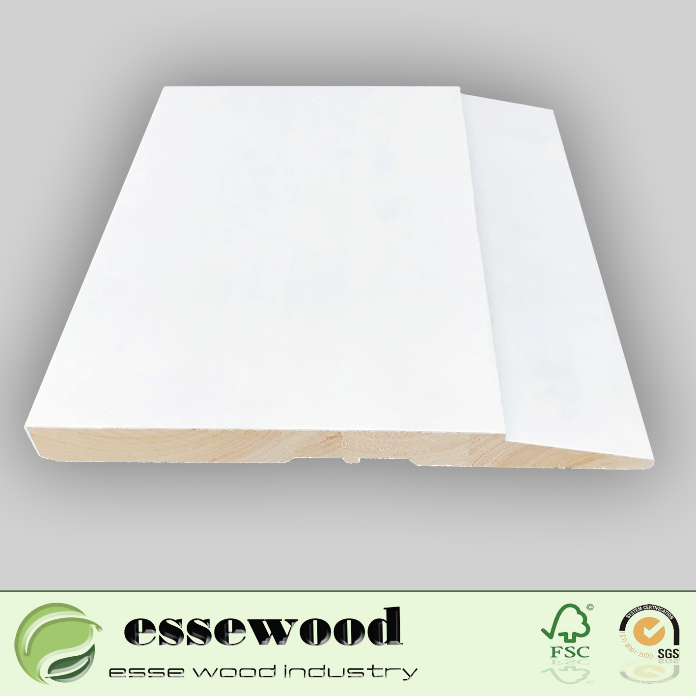 Gesso Wood Moulding Flooring Accessories Bseboard for Wall Skirting on Sale