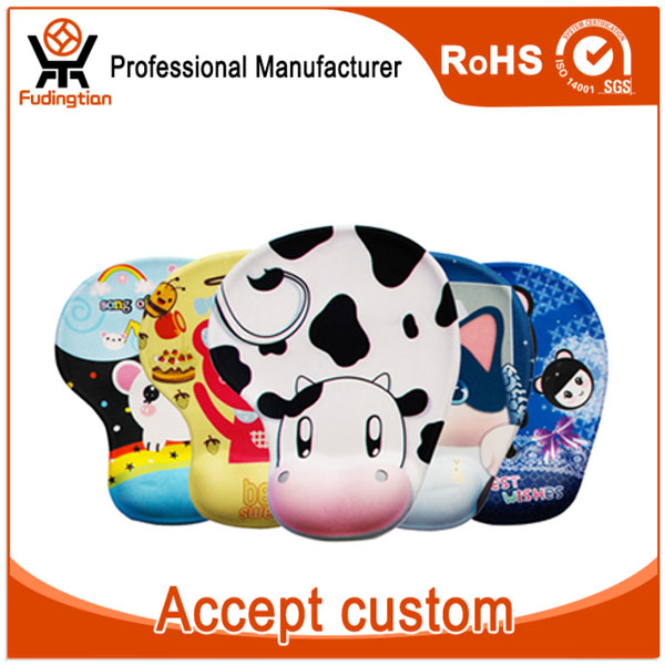 Custom 3D Lovely Animal Silica Gel Wrist Rest Mouse Pad