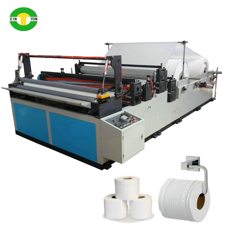 1300 1575 Semi automatic bathroom tissue paper roll making machine