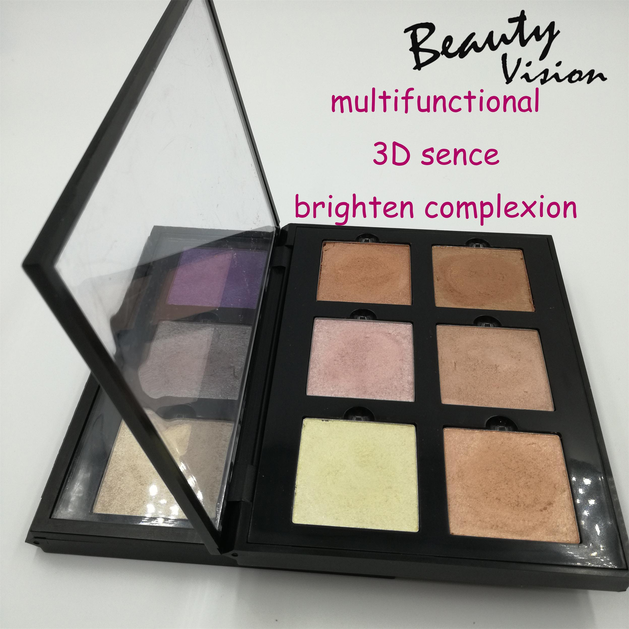 Cosmetic Manufacturing Illuminating Compact Highlighters Powder Makeup Face