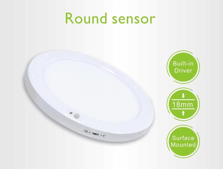 smart sensor led ceiling downlight 8 inch 18W 220v with PIR sensor+light sensor