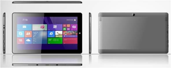 I109, 11.6 inch Windows tablet, Quad-core(1.84Hz), 1280*800 IPS, G+G, 2+64G, dual camera 2.0+8.0MP,