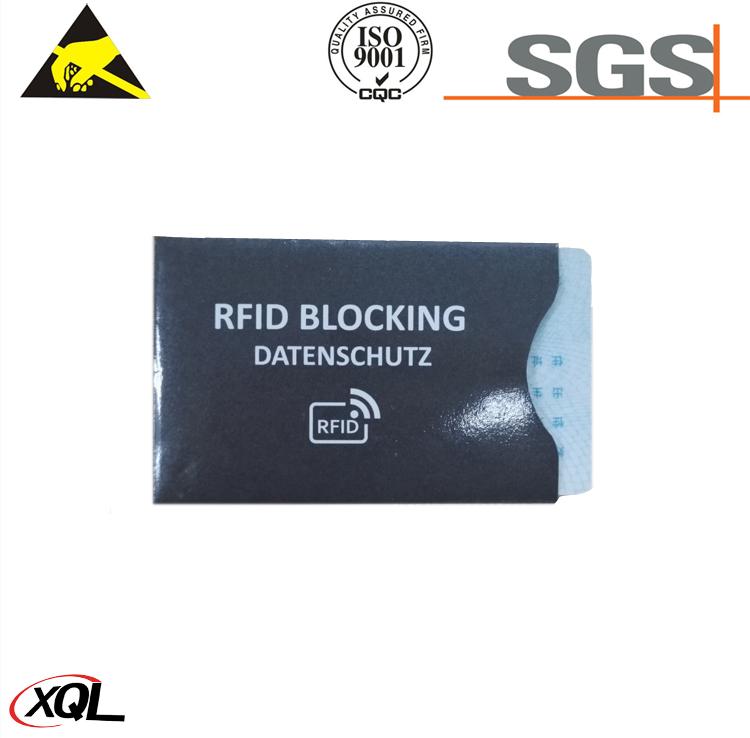 Customized Logo Printing Card Protector RFID Sleeve RFID Blocking Sleeves