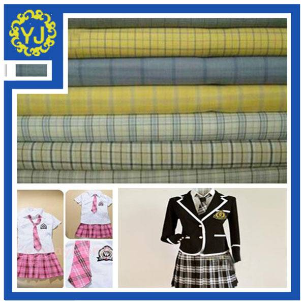 wholesale plaid checked fabric for school uniform