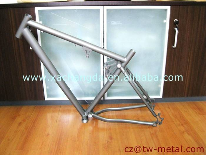 Customized titanoium full suspension bicycle frame ti bike part
