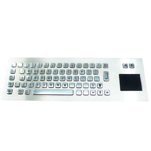 LOD-283 Kiosk Stainless Steel Keyboard with touchpad