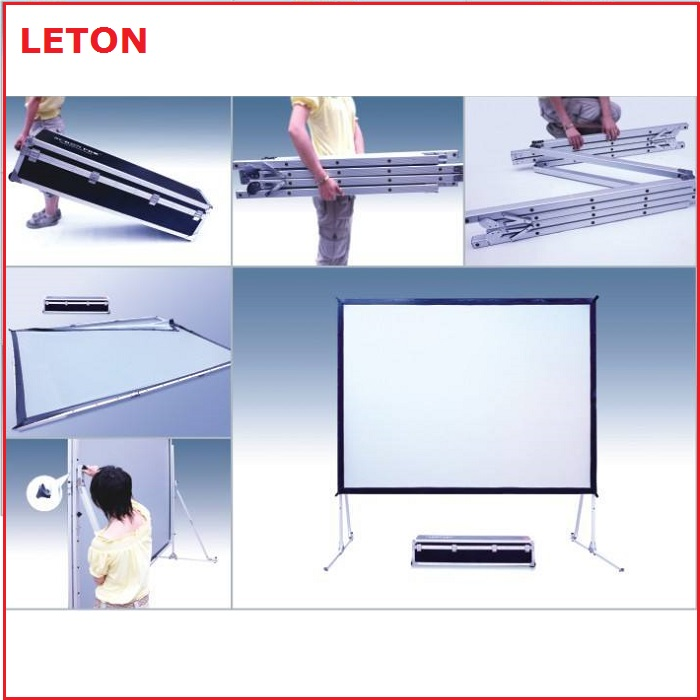 hot selling quick fold stand projector screen with cheap price