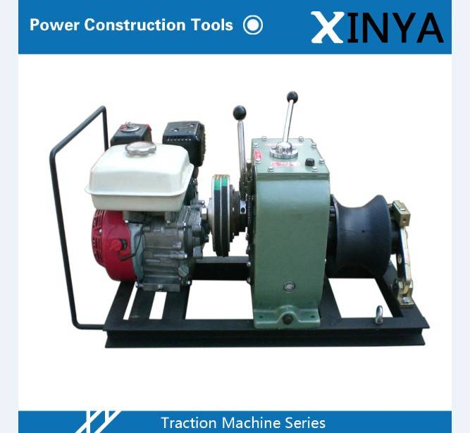 3 Ton Gasoline Powered Towing Winch with Honda gasoline engine