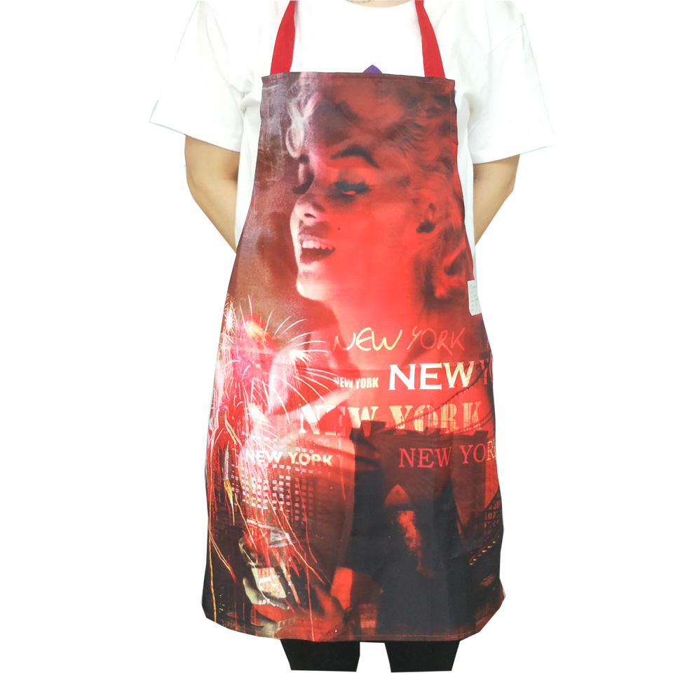 customized printed polyester kitchen apron