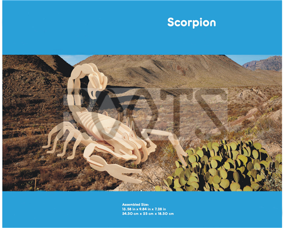 Scorpion-3D wooden puzzles, wooden construction kit,3d wooden models, 3d puzzle