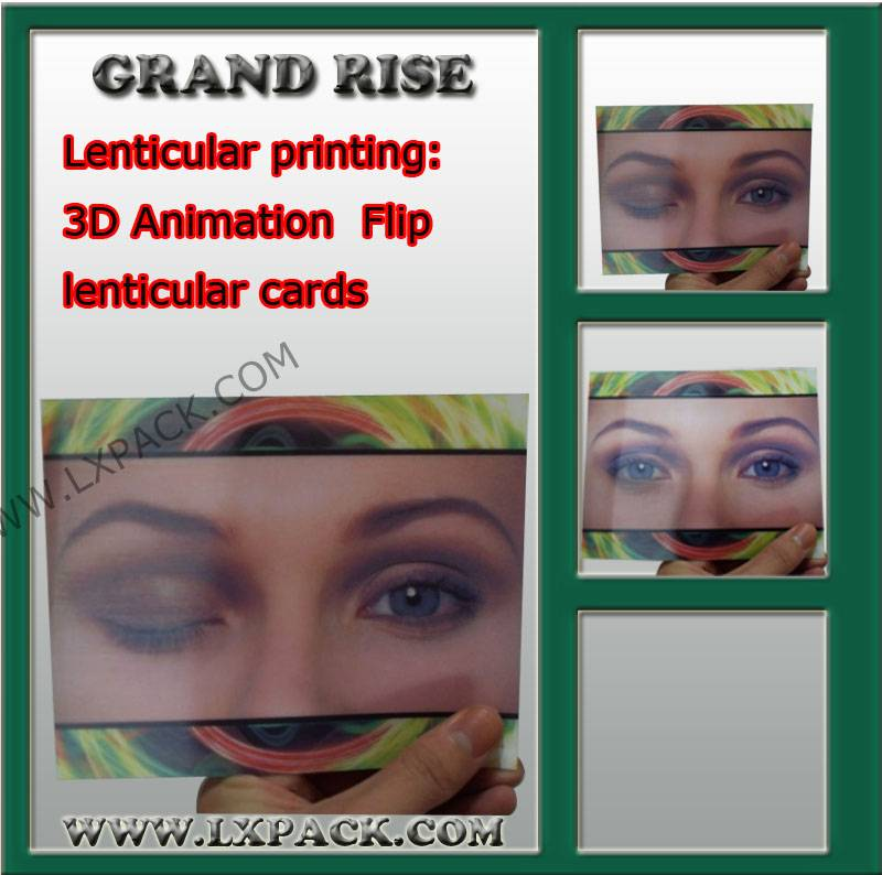 3D Motion Lenticular Advertisement Animation lenticular Card printing