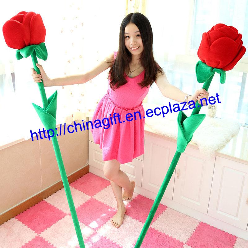 PLUSH GIANT ROSE FLOWER