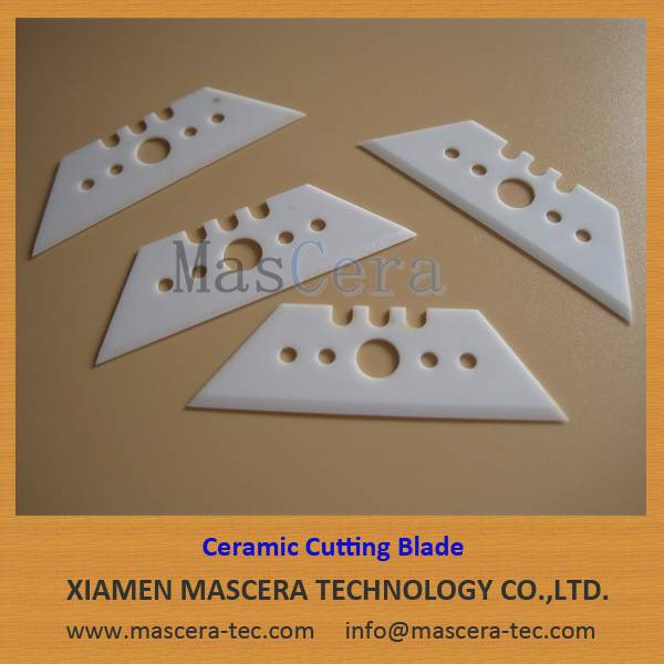 Trapezoid Zirconia ZrO2 Ceramic Knife Blade for Wallpaper Cutting