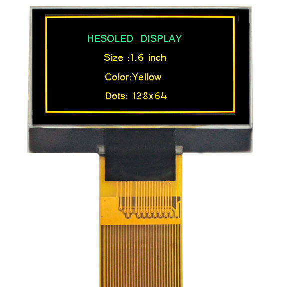 1.6 inch 128×64 color OLED display module