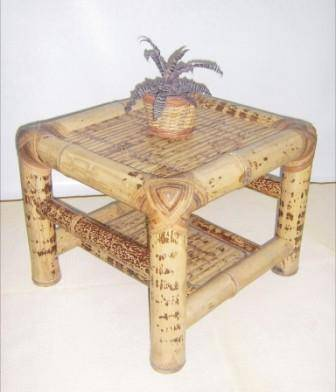 Tiger bamboo table