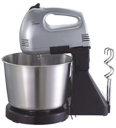 Hand mixer with stainless steel bowl