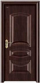 Exterior safety steel metal door in single leaf fm Zhejiang
