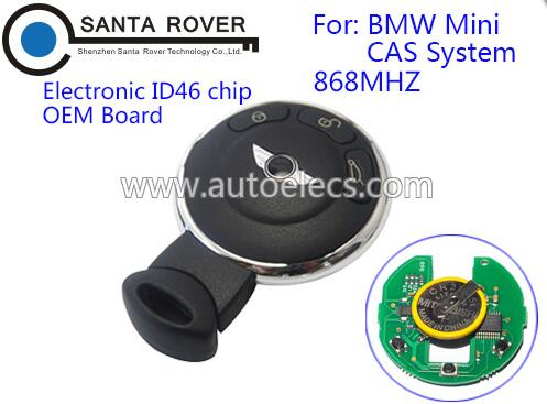 Replacement Keyless Entry Smart Remote Key Fob For B MW MINI CAS System 3 Button ID46 Chip 868Mhz OE