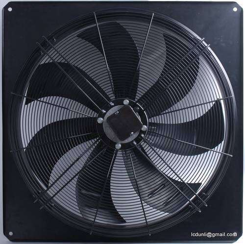 Axial fan with full square nozzle