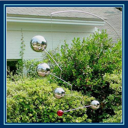 stainless steel brushed sphere for garden landscaping and decking