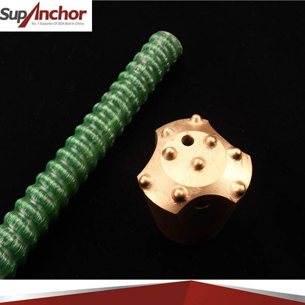 SupAnchor tunnelling and coal mining roof support chemical Self-Drilling FRP anchor bolt