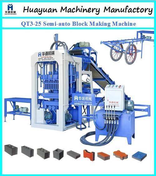 QT3-25 Semi-automatic hollow brick making machine
