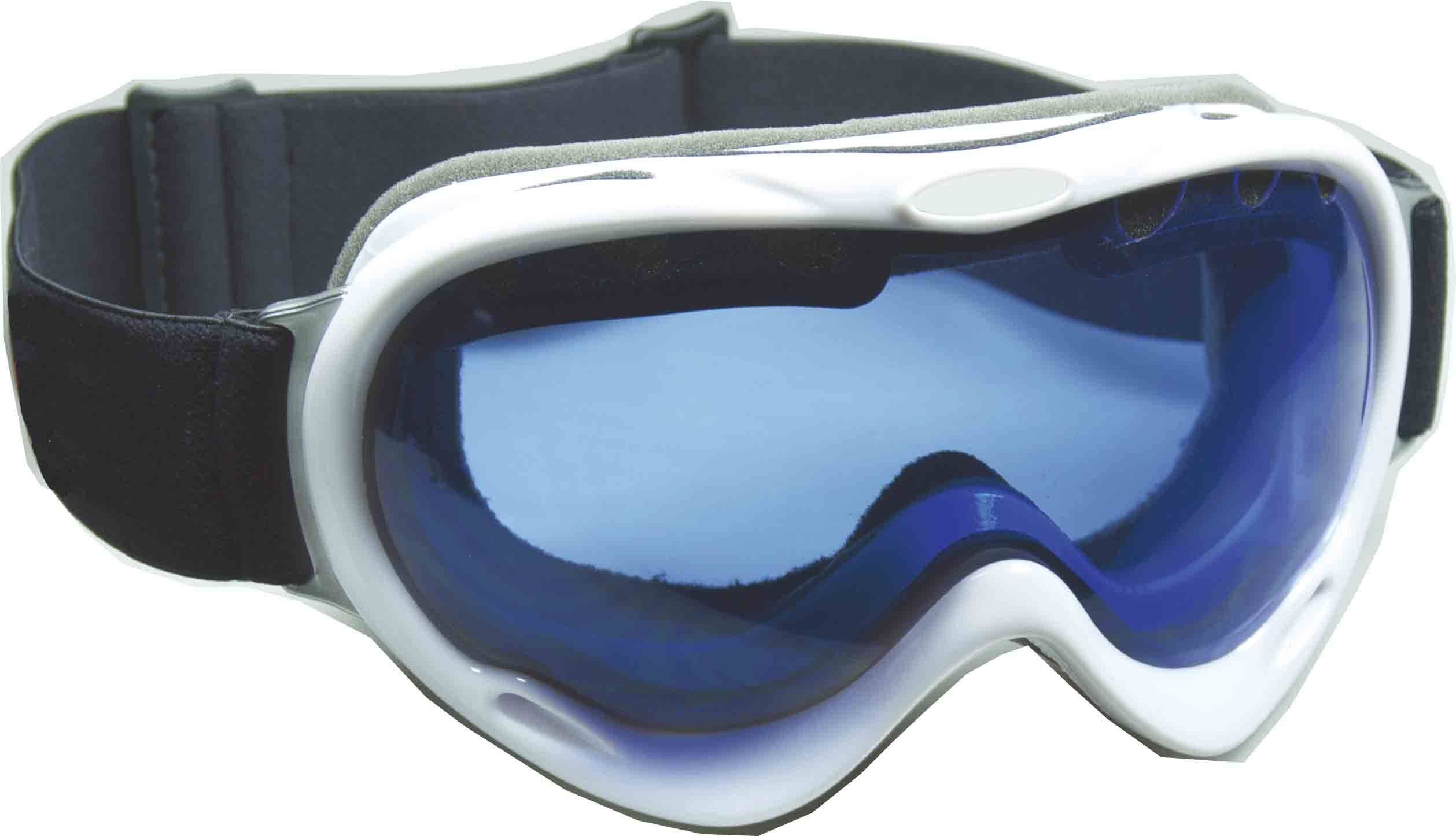 Spherical double lenses goggle