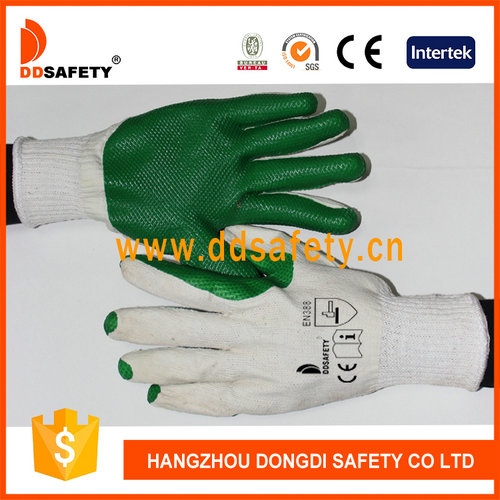 Cotton with green rubber glove-DCL304