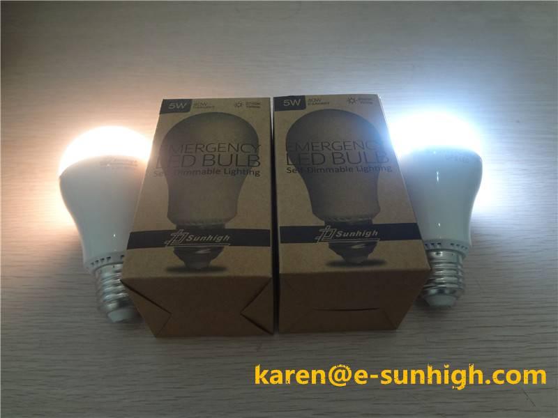 5W E26 6500K Dimmable Emergency LED Bulb